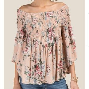 Francesca's - Millie smocked off the shoulder top